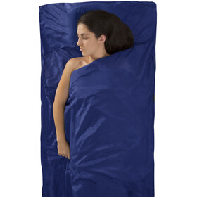 Sea to Summit Silk/Cotton Travel Liner Para Viajes con Funda para Almohada, navy blue
